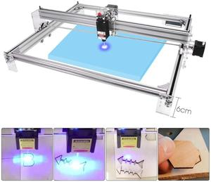 Image 3 - Área de trabalho 40cm x 50cm,2500mw/5500mw/15w máquina do cnc do laser, desktop diy máquina de gravura a laser violeta diy mini impressora a laser