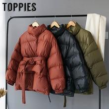 Зимняя куртка-пуховик для женщин, толстые теплые парки с воротником-стойкой, пальто-пузырь, Корейская хлопковая стеганая одежда на пуговицах