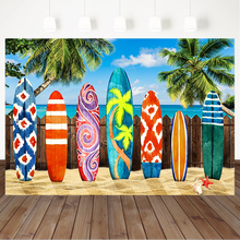 Summer Sea Surfing Background for Photography Beach Coconut Tree Children Birthday Photography Backdrops For Photo Studio kate winter backdrops photography ice snow tree scenery photo shoot white forest world backdrops for photo studio