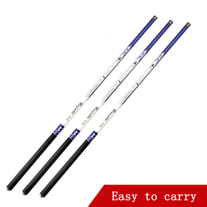 High Quality Carbon Telescopic Power Hand Pole Fishing Rod 2.7/3.6/4.5/5.4/6.3/7.2m Travel Ultra Light Carp Fishing Rod Feeder