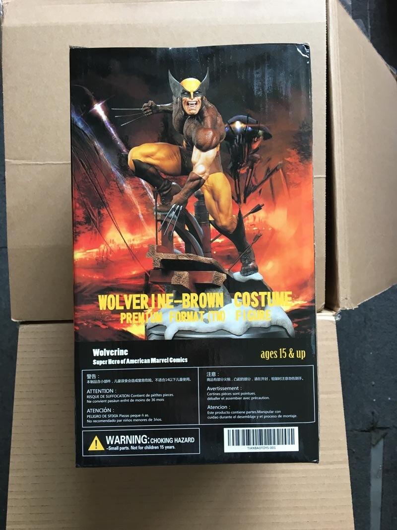 """X-Men Dowin Wolverine Figure 1//6 Scale LOGAN PVC Toy 10/"""" 26cm"""