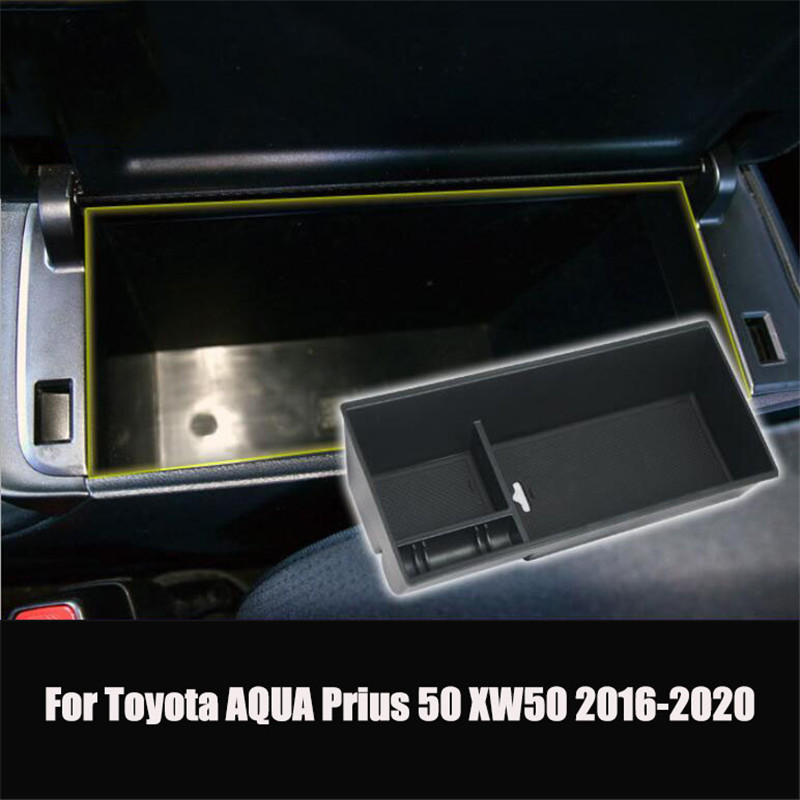 Car-Organizer-Accessories Armrest-Box-Storage Prius Toyota Aqua 50-Xw50 Stowing Tidying title=