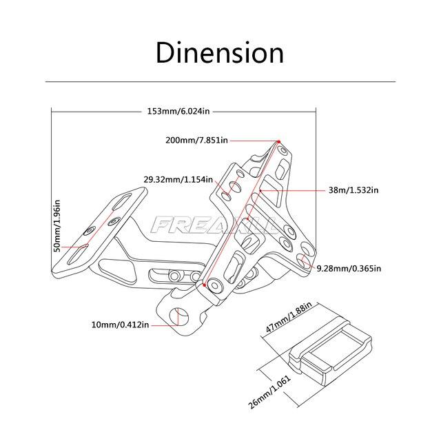 Pour SUZUKI GSR 600 400 750 GSR750 GSR600 GSR400 support de plaque dimmatriculation de moto support de plaque dimmatriculation cadre plaque dimmatriculation