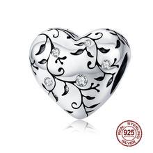 Подвеска из 100% стерлингового серебра 925 пробы, оригинальный браслет с подвеской, ожерелье, подлинный бисер, подарок для мамы