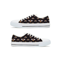 Women Vulcanize shoes Bee Shoes Print on demand Black bottom Lace up Low Vancas Sneakers Breathable fashion shoes