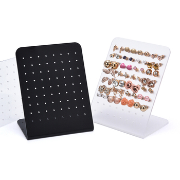 72 Holes Earring Display Stand Acrylic Stud Dangle Earrings Display Rack Stand Jewelry Organize Holder Storage New fashion acrylic hair clip jewelry showcase holder hairpin display show stand holder jewelry display stand rack new arrival