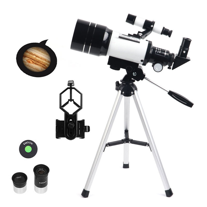 Professional 70mm Refractor Astronomical Telescope With Tripod Low Night Vision Moon Watching Powerful Monocular for Kids Gifts