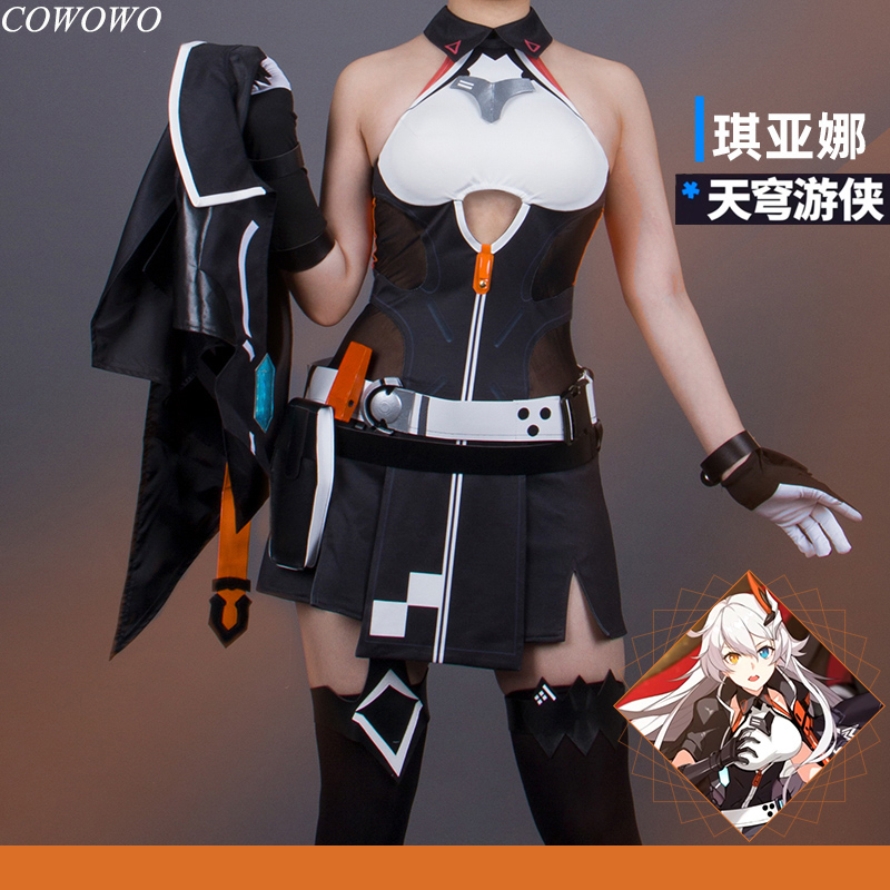 <font><b>Anime</b></font>! Honkai Impact 3 Kiana Kaslana TianQiongYouXia Battle Suit <font><b>Sexy</b></font> Dress Uniform Cosplay <font><b>Costume</b></font> <font><b>Halloween</b></font> NEW Free Shipping image