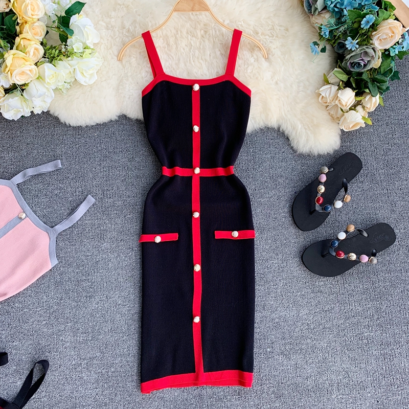 Gaganight 2019 Striped Sexy Women Party Dress Sleeveless Vintage Bodycon Bandage Ladies Dresses Empire Knitted Stretch Dress in Dresses from Women 39 s Clothing