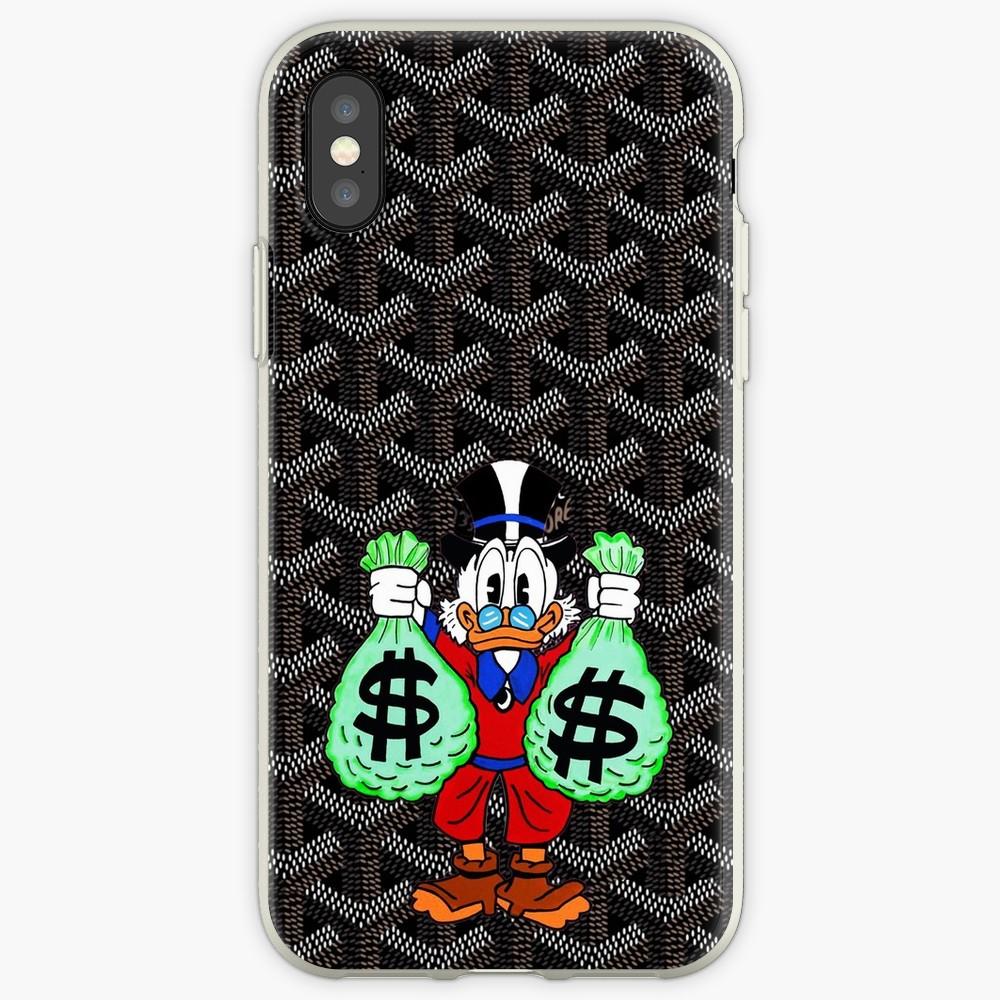 Black Goyard Money Transparent Case For IPhone X XSMAX XR 11 Pro Max Case For IPhone 6 6s 5 5s 7plus 8plus Iphone 7 8 Case