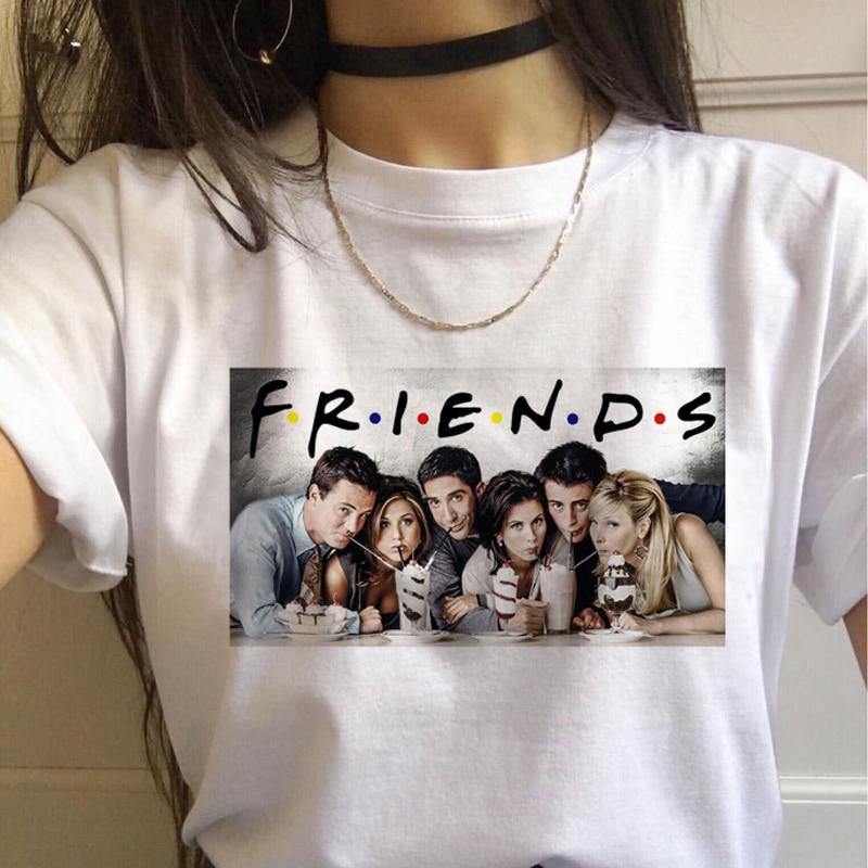 New Friend Tv Show Women Femme Clothes T Shirt Female T-shirt Top Tee Shirts Harajuku Summer 90s Tshirt Streetwear