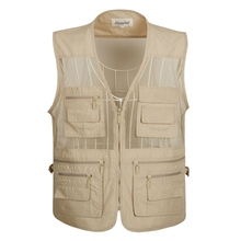 Summer Mesh Vest For Men Spring Autumn Male Casual Thin Breathable Multi Pocket Waistcoat Mens Baggy 5XL With Many Pockets
