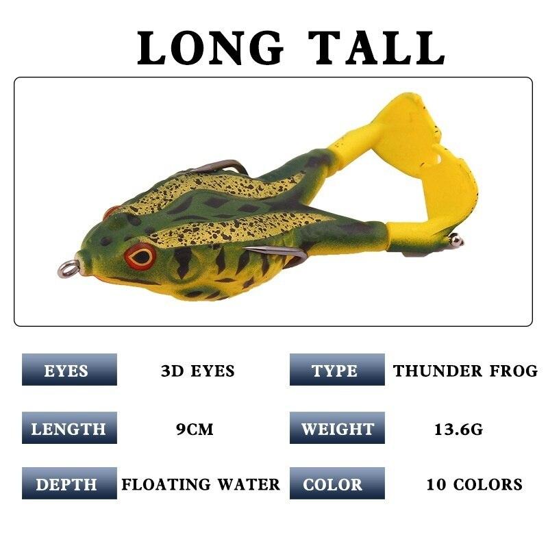Рыболовная Приманка в виде лягушки 9 см 137 г