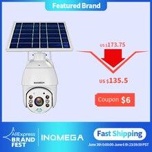 INQMEGA 4G WIFI Solare IP PTZ Telecamere Starlight pieno di colore di IR di visione P2P 4G sim card IR di Visione macchina fotografica della cupola di Cloud storage macchina fotografica