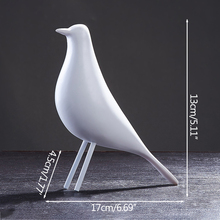 Nordic Resin Bird Miniature Model Figurines Photograph Prop Home Decoration Ornaments Office Desk Display Crafts  Wedding Gift