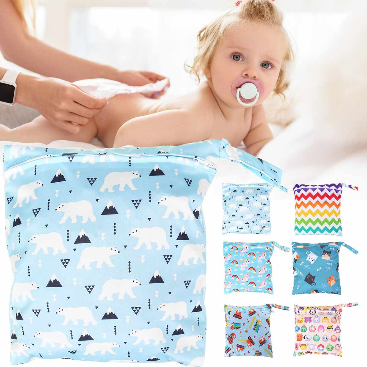 Mummy Diaper Nappy Bag Baby Travel Diaper Bag,Waterproof Maternity Small Wet Bags For Mommy Storage Stroller Accessories