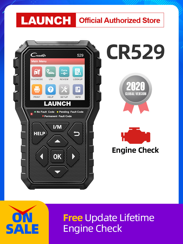 OBD2 Scanner Diagnostic-Tool Code-Reader Fault-Code Automotive CR529 OBDII LAUNCH