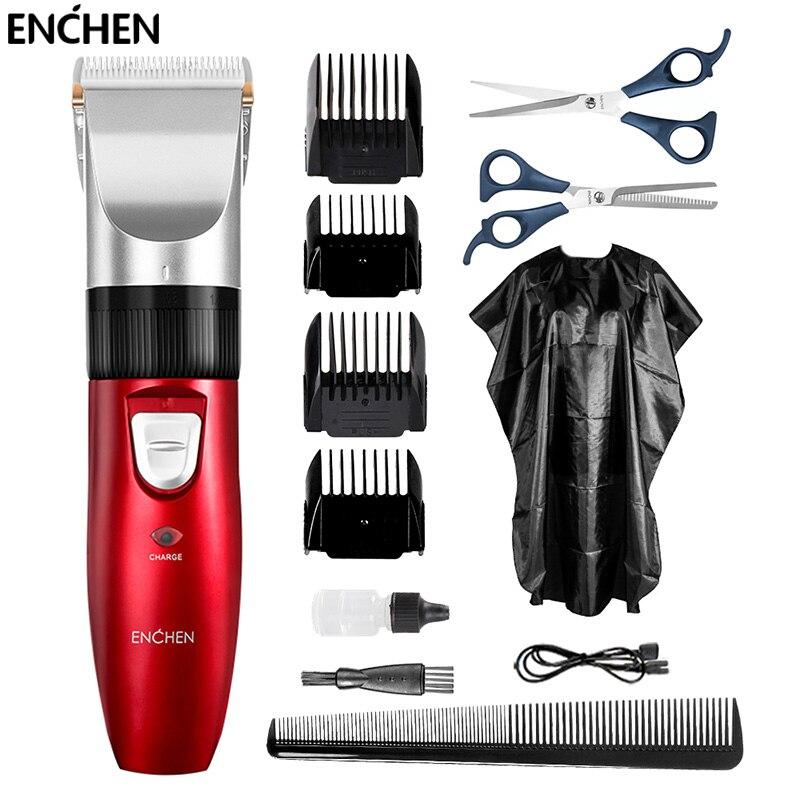 ENCHEN мужской электрический триммер, профессиональный беспроводной триммер для волос, USB аккумуляторная машинка для стрижки волос, машинка для парикмахера