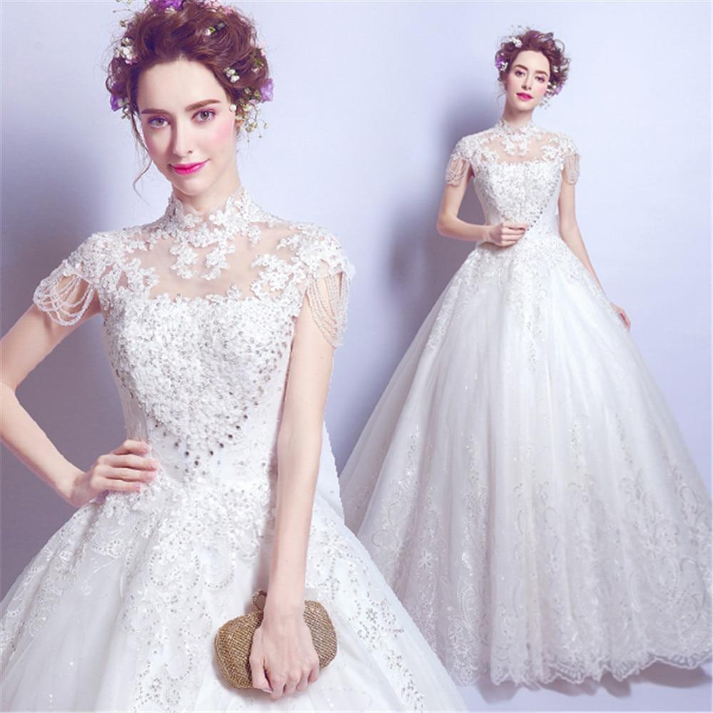 Luxe Perlen Kleid Halter Sexy femmes cristaux robes De bal en dentelle perles manches fée soirée princesse Robe Robe De soirée Robe De soirée