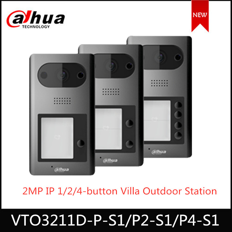 Dahua Video Intercoms IP 1 2 4 Button Villa Outdoor Station VTO3211D-P P2 P4 -S1 Optional 2MP HD CMOS Camera ICR Night Vision