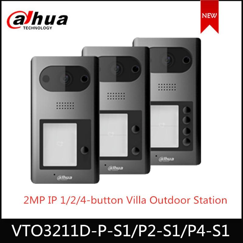 Dahua Video Intercoms IP 1 2 4 Button Villa Outdoor Station VTO3211D-P P2 P4 -S1 Optional 2MP HD CMOS Camera ICR Night Vision