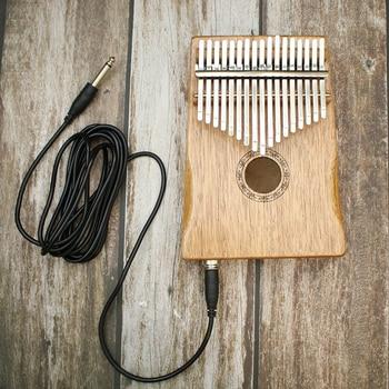 New 17 Keys EQ Kalimba Mahogany Thumb Piano Link Speaker Electric Pickup Bag + Cable 2019 Hot Musical Instruments Professional