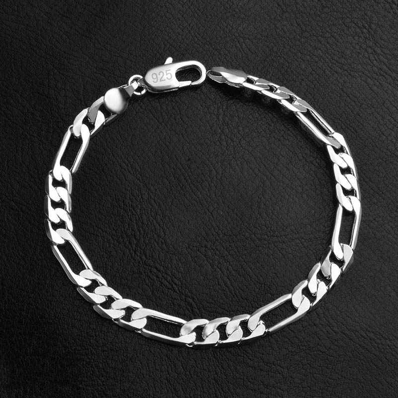 New Silver Gold Chain Bracelets For Man Women Stainless Steel Alloy Figaro Chain Bracelet Wholesale Jewelry Gift
