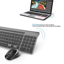 French Wireless Keyboard Mouse set 2.4G AZERTY Portable Wireless Keyboard 2400DPI Wireless Mouse For PC Laptop Computer Smart TV