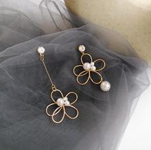 Новые простые и модные плетеные ассиметричные серьги в виде