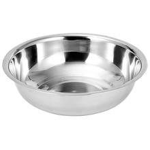 1pc Stainless Steel Basin Vegetable Washing Pot Salad Mixing Bowl Tableware