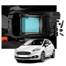 LFOTPP Car Door Groove Mat For Fiesta MK8 2017 2018 2019 2020 Anti Slip Rubber Gate Slot Pads Auto Interior Accessories 14 Pcs