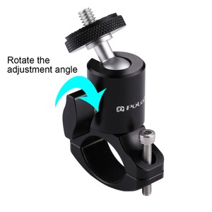 Image 2 - 1/4 Camera DV DSLR Bike Bicycle Handlebar Clamp Bracket Tripod Mount Screw Clip For Camera DV for Gopro