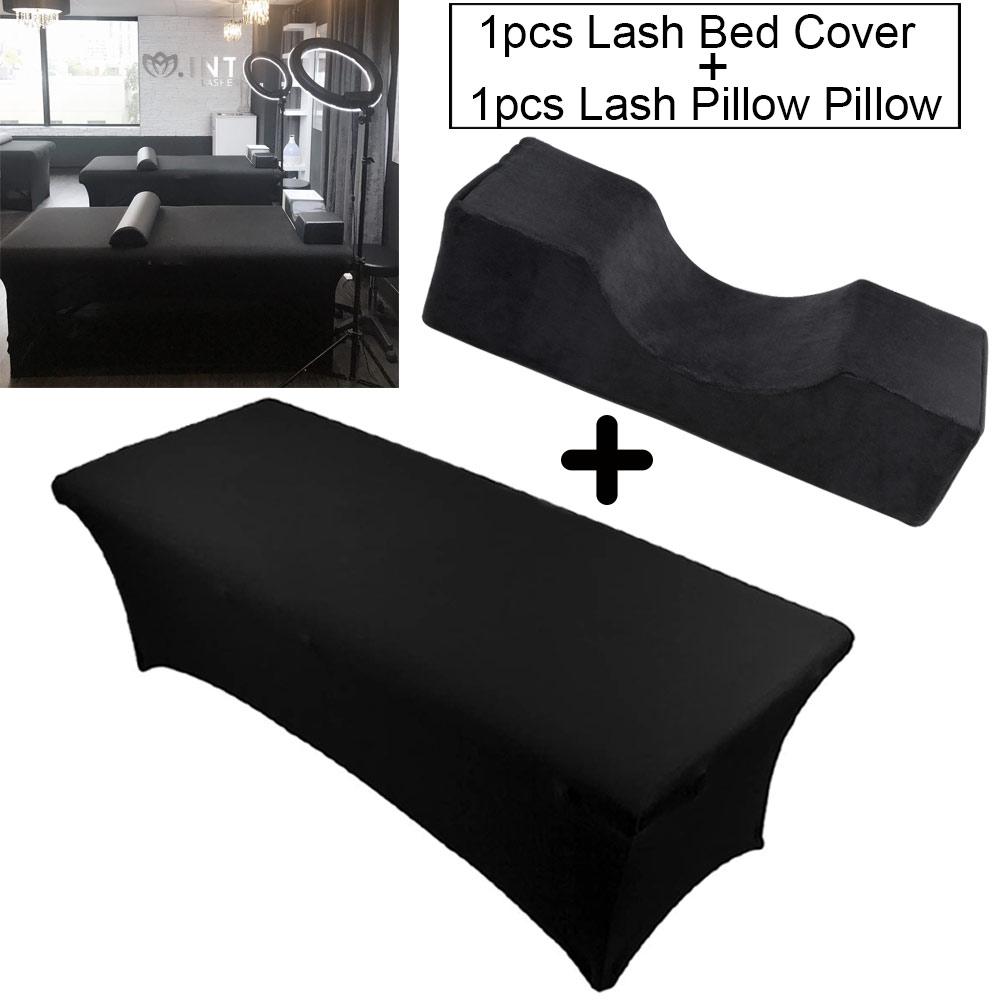 Neck Lash Pillow Memory Foam Lash Pillow 1pcs Eyelash Extension Bed Cover Elastic Sheet For Grafting Eyelashes Makeup Tool Salon