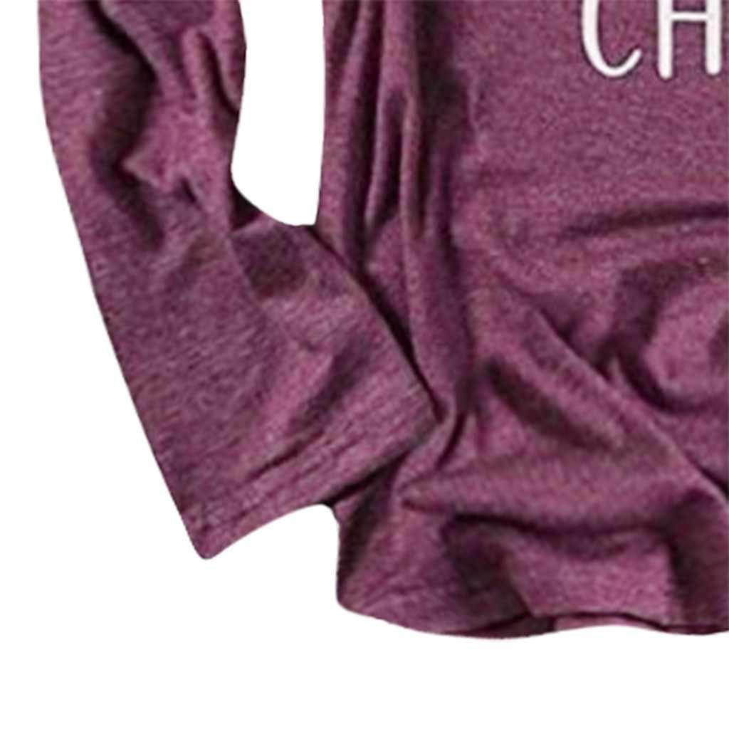 Праздничная Рождественская рубашка Женская Золотая Футболка с оленями Длинные рукава harajuku Зимние Топы Высокое качество футболки женская одежда 2019