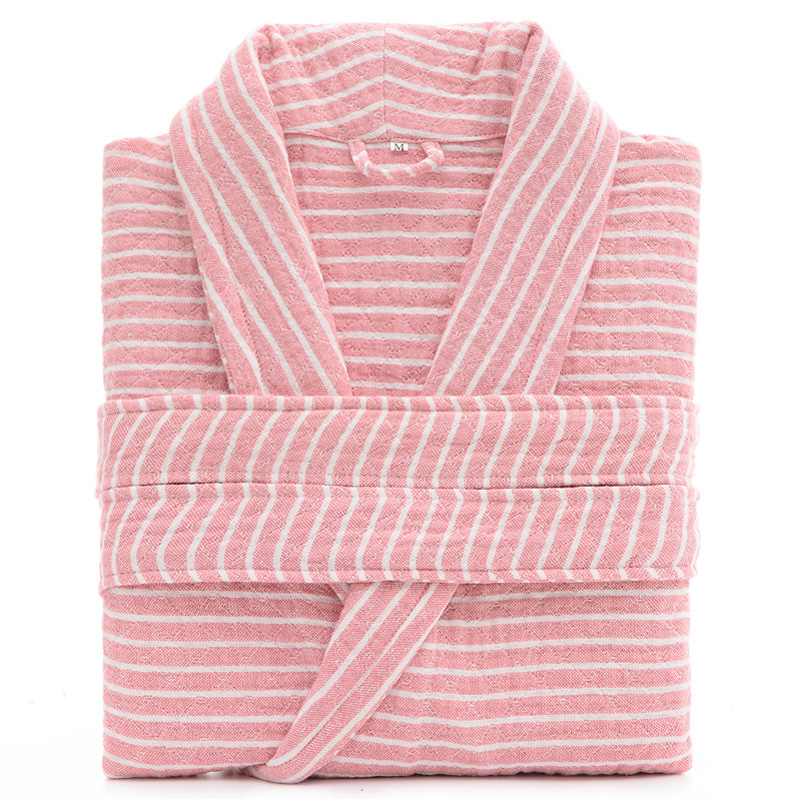 Three Layers 100% Cotton Unisex Robe Sexy Bath Robe Men Women Sleepwear Washing Gauze Sleeprobe Females Casual Home Bathrobe