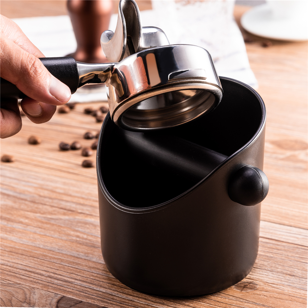 إسبرسو صندوق طحن قهوة صدمة ماصة دائم باريستا نمط القهوة صندوق طحن قهوة حاوية علب مكافحة زلة القهوة طحن تفريغ بن سلة مهملات