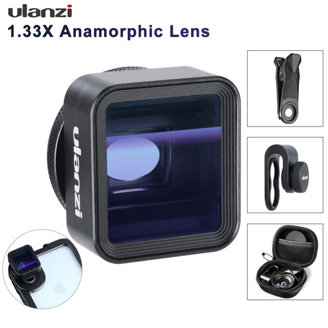 Ulanzi 1.33X Anamorphic Phone Lens for iPhone 11 Pro Max Huawei P20 Pro Mate Pixel Movie Shooting Filmmaking Phone Camera Lens