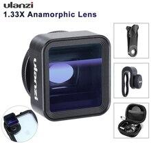 Ulanzi 1.33X AnamorphicสำหรับiPhone 11 Pro Max Huawei P20 Pro Mate Pixelภาพยนตร์เกมส์ยิงFilmmakingโทรศัพท์กล้องเลนส์