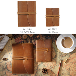 Image 2 - 100% Genuine Leather Notebook Planner Book Cover A5 A6 Size For MD Diary Original Journal Drawing Sketchbook