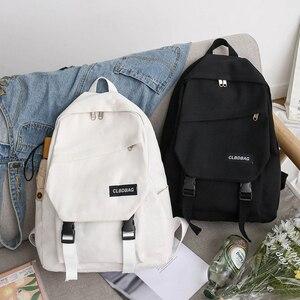 Portable Bags for Student Birthday Gifts Simple Canvas Backpack Shoulder Bag Women Men Schoolbag Teenages Travel Bagpack