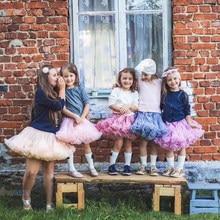 Moda crianças meninas tutu saias princesa pettiskirt ballet dança tutu saia crianças traje festa crianças dança saia 1-8 y