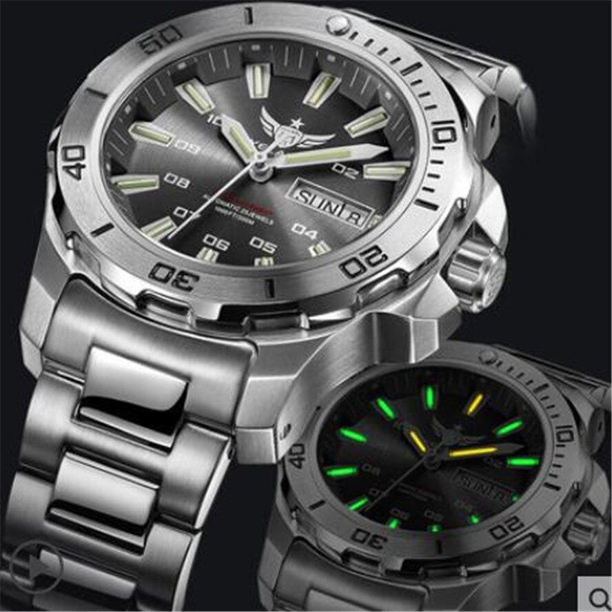 Image 5 - Yelang Men Automatic Watch Tritium T100 Light Switzerland ETA Movement 25Jewels Rotate Dial Date Day Diver Watch Waterproof300mMechanical Watches   -