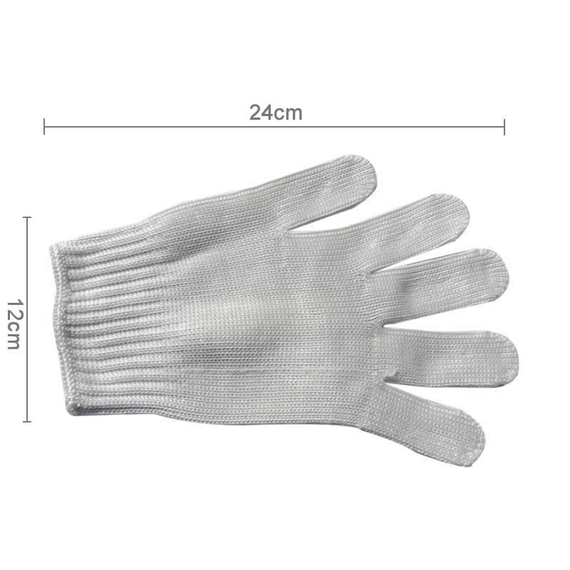 Image 2 - 1/Pair Black Working Safety Gloves Cut Resistant Protective Stainless Steel Wire Butcher Anti Cutting Gloves-in Safety Gloves from Security & Protection
