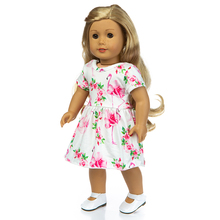 Fit 18 inch 40cm-43cm Born New Baby Doll Clothes Love Rose Flamingo Suit Yarn Girl skirt Accessories For Birthday Gift