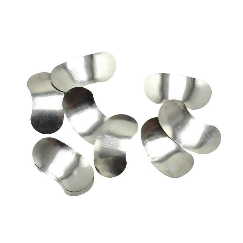 100 adet tam kiti diş matrisi kesit konturlu Metal matrisler No.1.398 + 2 yüzük diş beyazlatma diş hekimi araçları Lab enstrüman