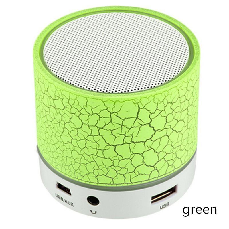 Портативный Bluetooth динамик мини беспроводной громкий динамик трещины светодиодный TF USB Сабвуфер Bluetooth динамик s Mp3 стерео аудио музыкальный плеер - Цвет: Зеленая трава