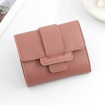 Short Wallet Coin Purse Pocket Genuine Leather Women Wallets 2021 Small Fashion Card Holder Money Bag For Ladies image