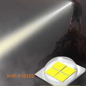 Image 2 - Super bright XHP 70 LED ZOOM Headlamp Fishing headlight Hunting Powerful Lighting Flashlight torch head light