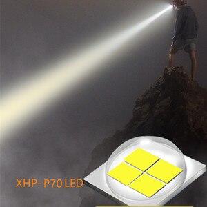 Image 2 - Super bright XHP 70 LED ZOOM reflektor wędkarstwo reflektor polowanie potężne oświetlenie latarka latarka head light