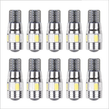 Car Light Bulb 10 Pcs 5630 6smd W5w Car 12v Led Tail Brake Rear Light Lamp Car Led Light Canbus Wedge Bulb Lamp Drop Shipping image